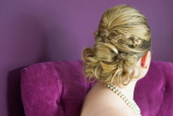 An example of a hairstyle for a bride.
